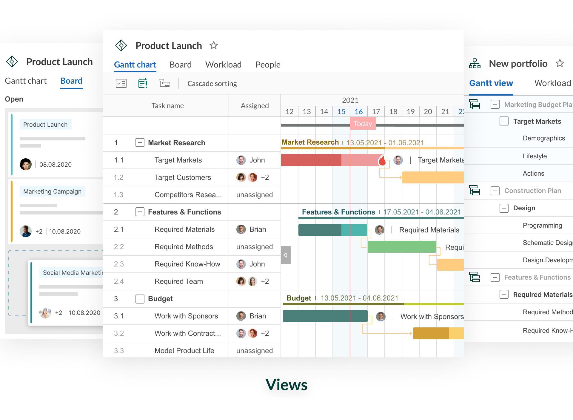 GanttPRO Software - Views