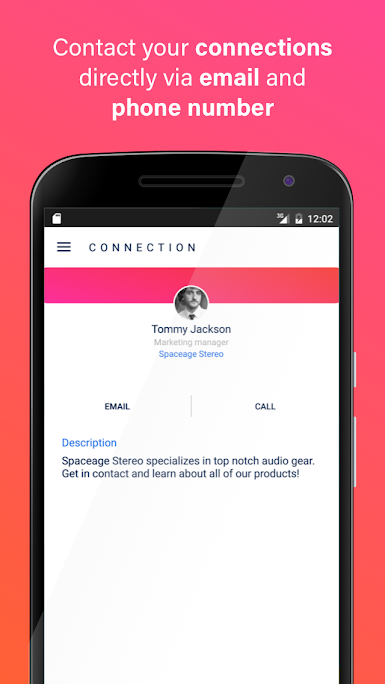 The CrowdLink app by Connect Space allows event attendees to connect with and contact each other