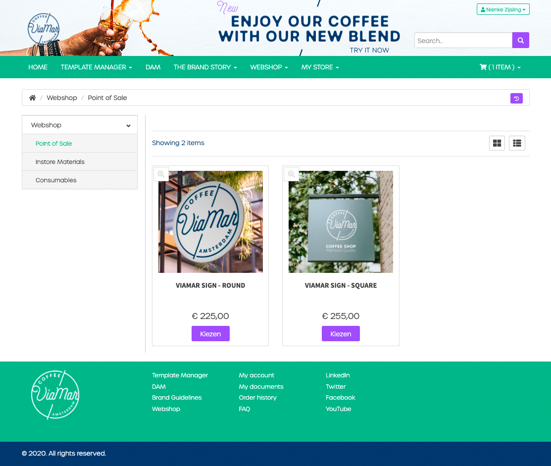 Add a webshop for all your Marcom materials