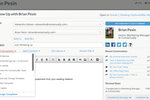 Contactually screenshot: Customizable and dynamic email templates make following up quick and easy.
