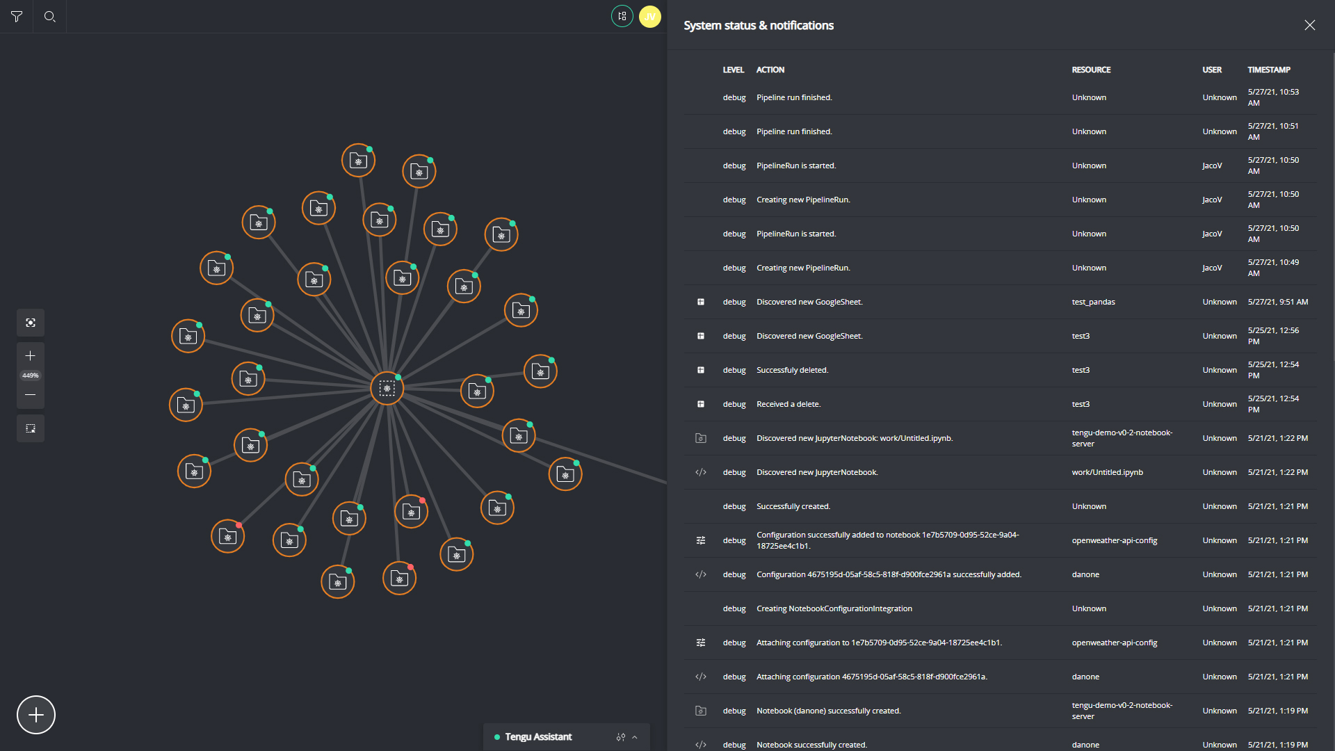 Data environment lineage with multiple ways to monitor everything. Spot errors at a glance, follow up on an elements history and runtimes in the needed detail and keep oversight with event logging.