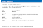 Netwrix Auditor screenshot: Receive alerts on threat patterns