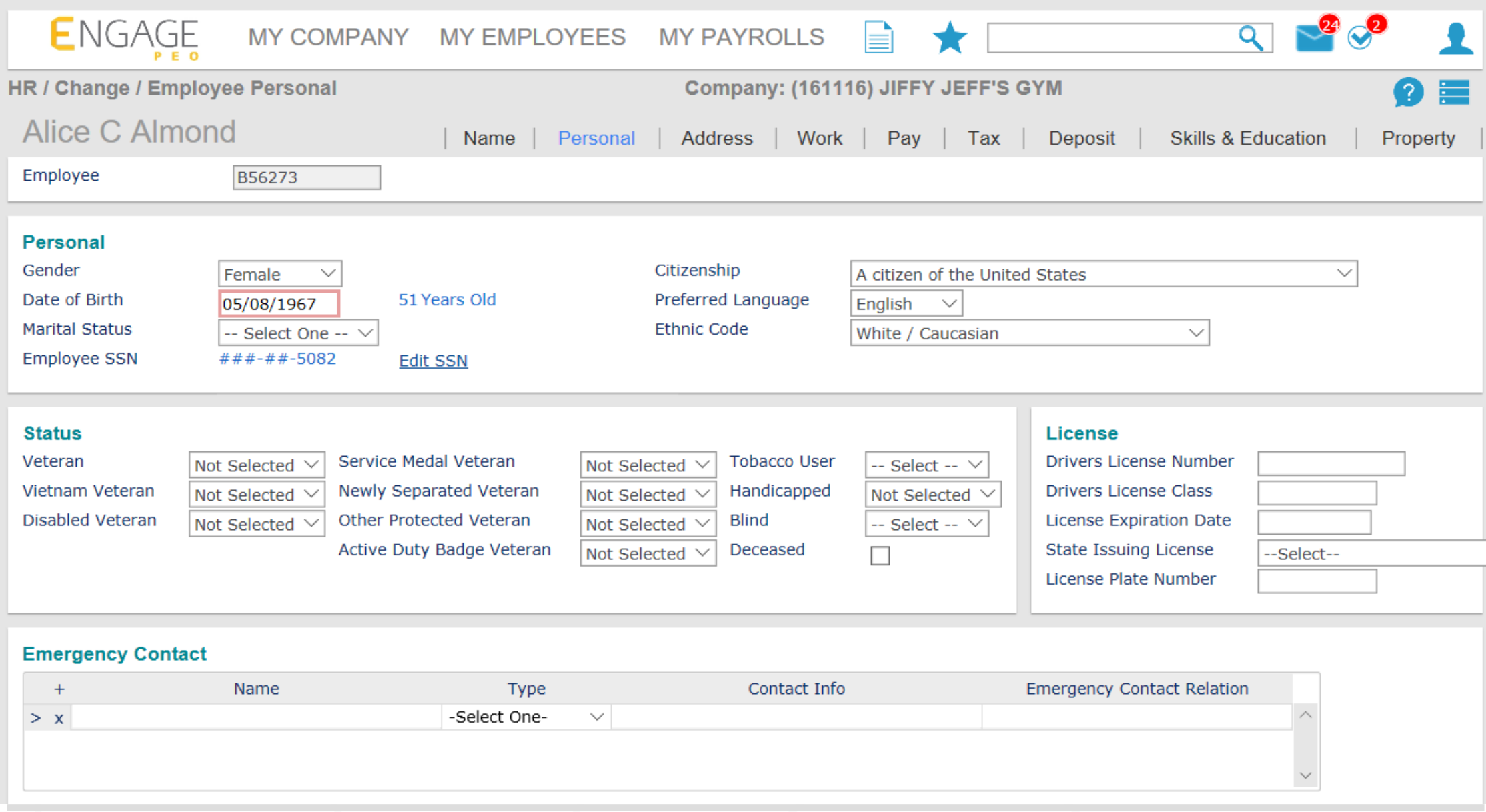 Engage PEO Software - 2