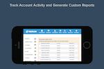 Rerun screenshot: Track account activity and export reports.