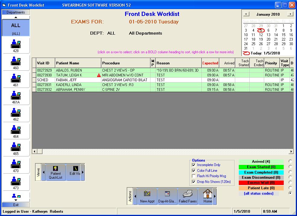 RISynergy Software - Front Desk Worklist