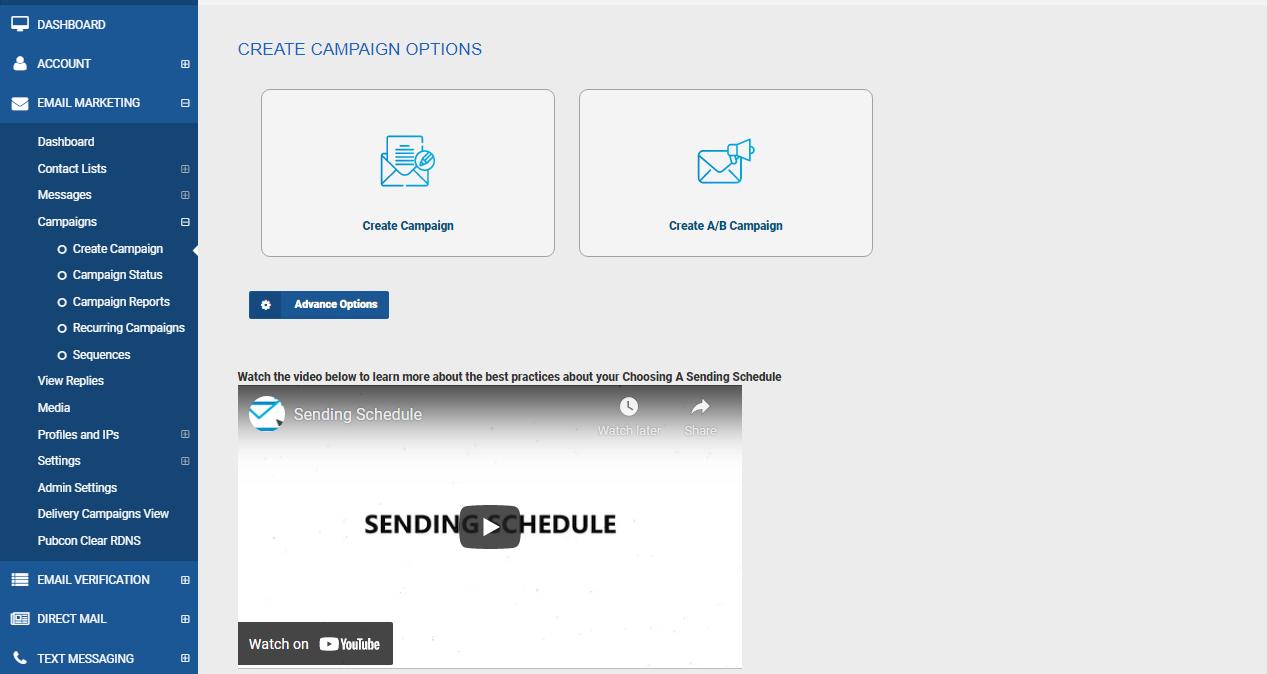 MailClickConvert Campaign Dashboard