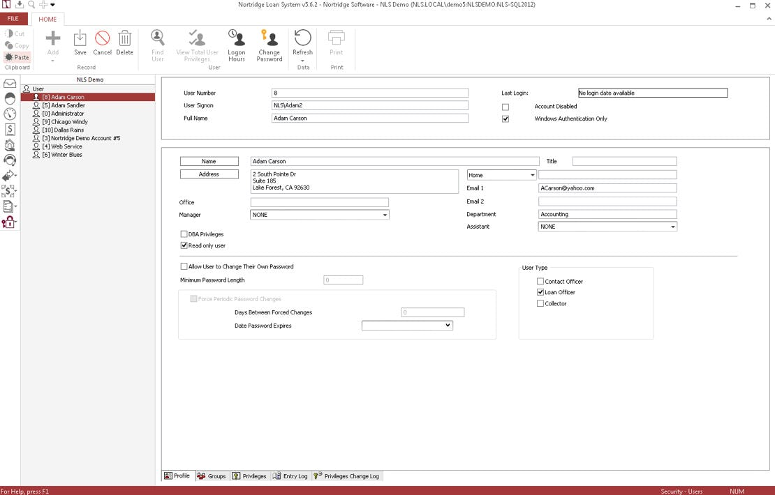 The Nortridge Loan System Software - 6