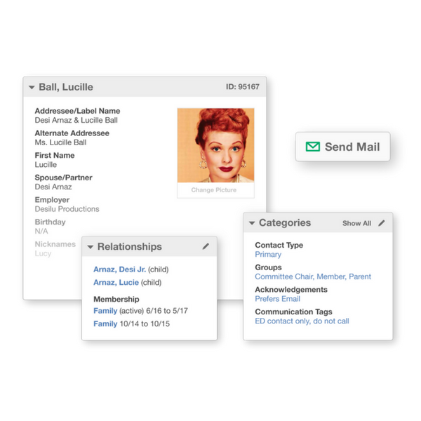 Manage relationships and communication preferences as well add tags