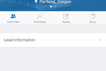 Naranga screenshot: Leads can be captured and managed through emaximation