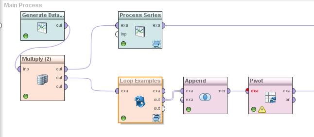 RapidMiner drag and drop processes