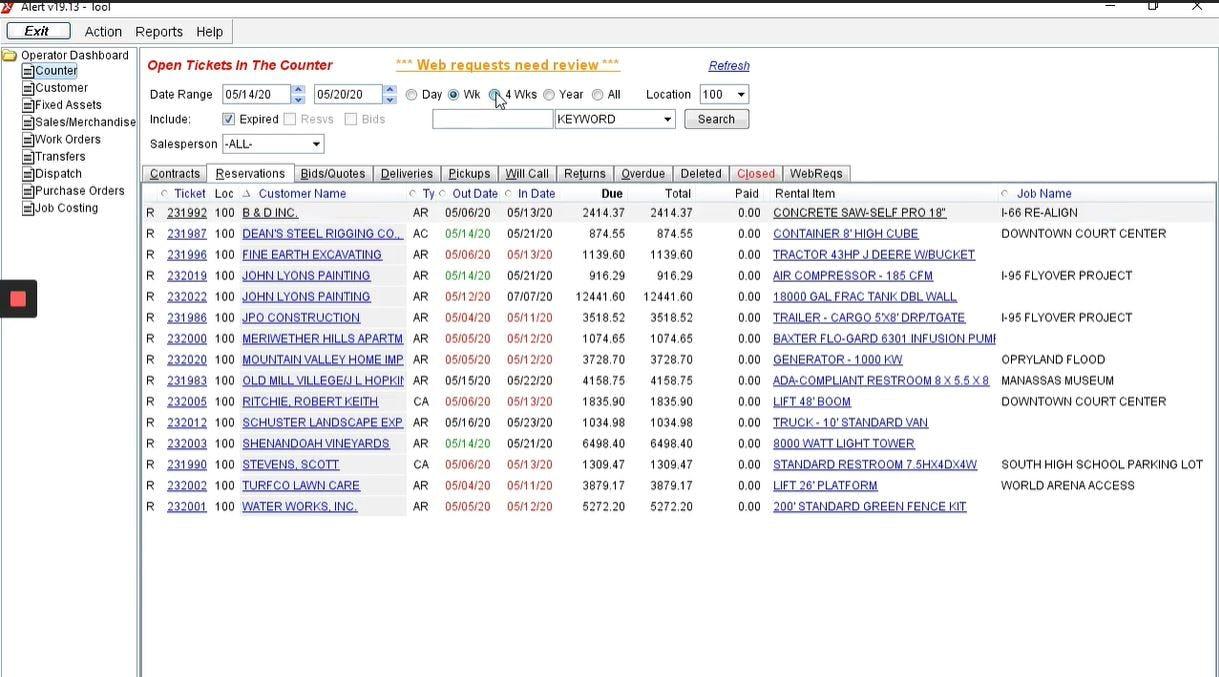 Alert Software - Alert Rental reservations management