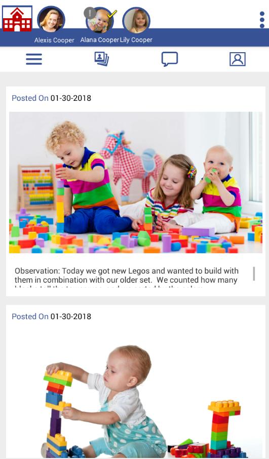 LifeCubby Family App Photo Roll