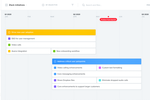 Productboard Screenshot: Create timeline roadmaps to plan work in relation to upcoming date-based milestones like a major industry conference, analyst briefing, or marketing launch