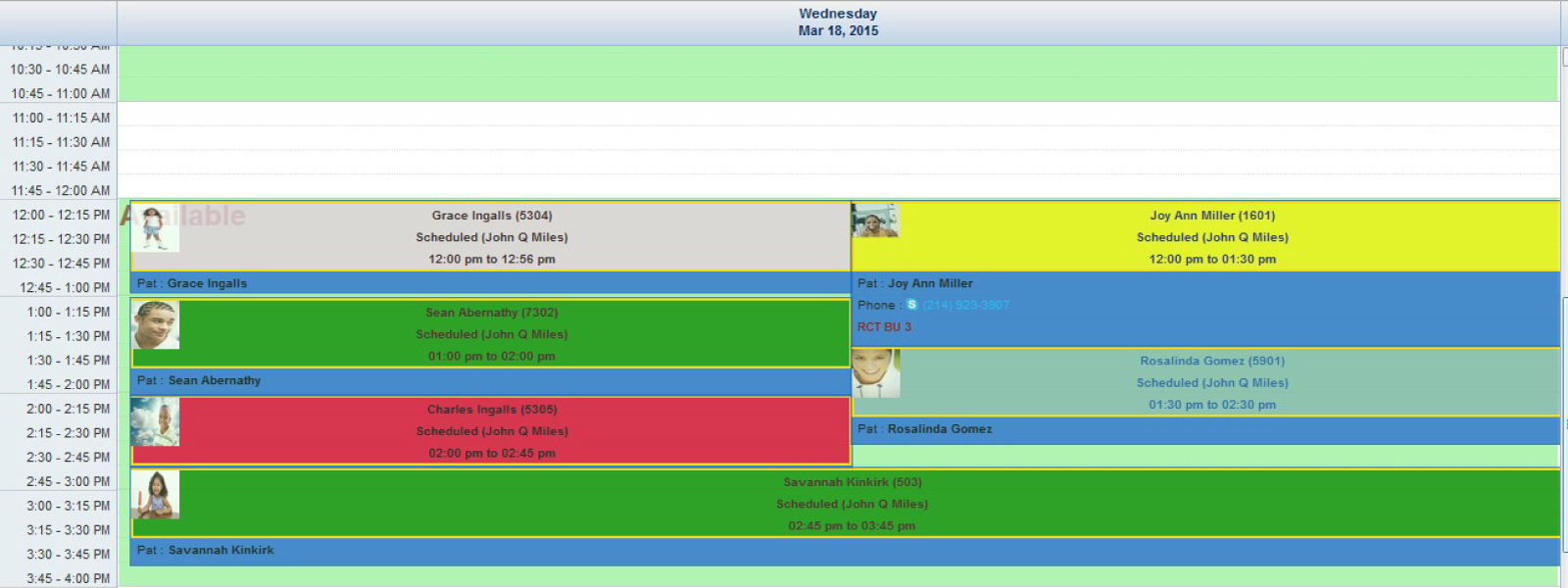 Total Dental Software - Scheduler View