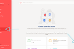 atSpoke screenshot: Create a new team or use one of Spoke's templates for a head-start