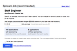 Indeed screenshot: Promote jobs as 'Sponsored' listings to attract more candidates