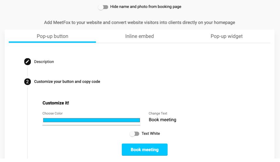 MeetFox screenshot: MeetFox add pop-up button