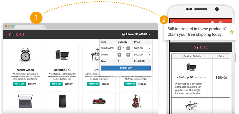Alert customers of abandoned carts with automated email triggers to encourage a purchase