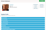 ALIS screenshot: The resident profile displays information about each resident in the facility