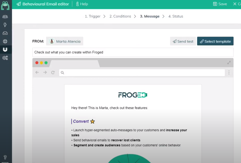 Froged email editor