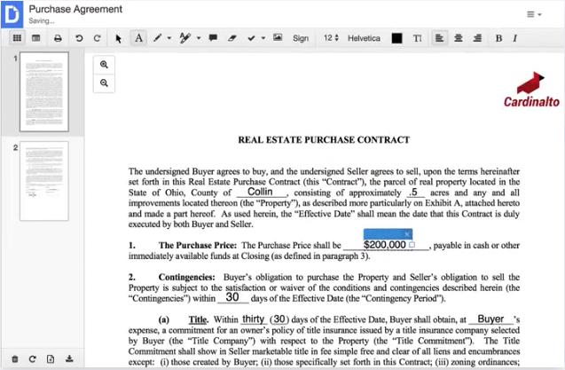 DocHub edit PDFs