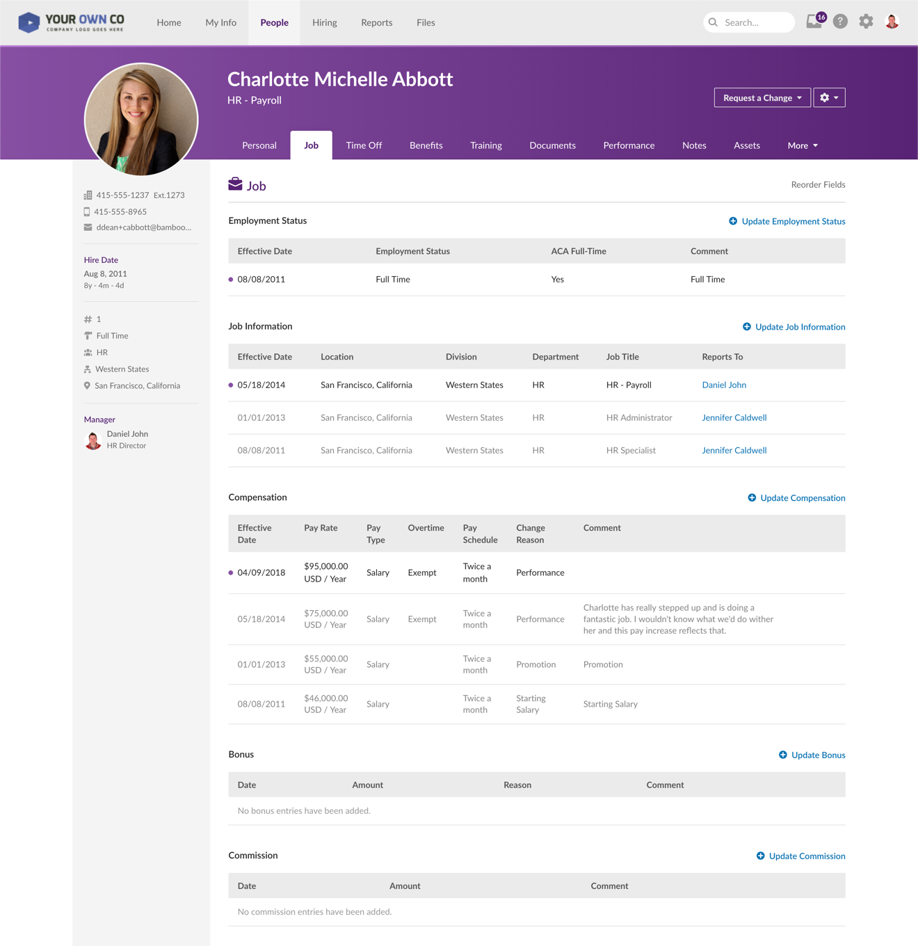 BambooHR Software - Employee Records