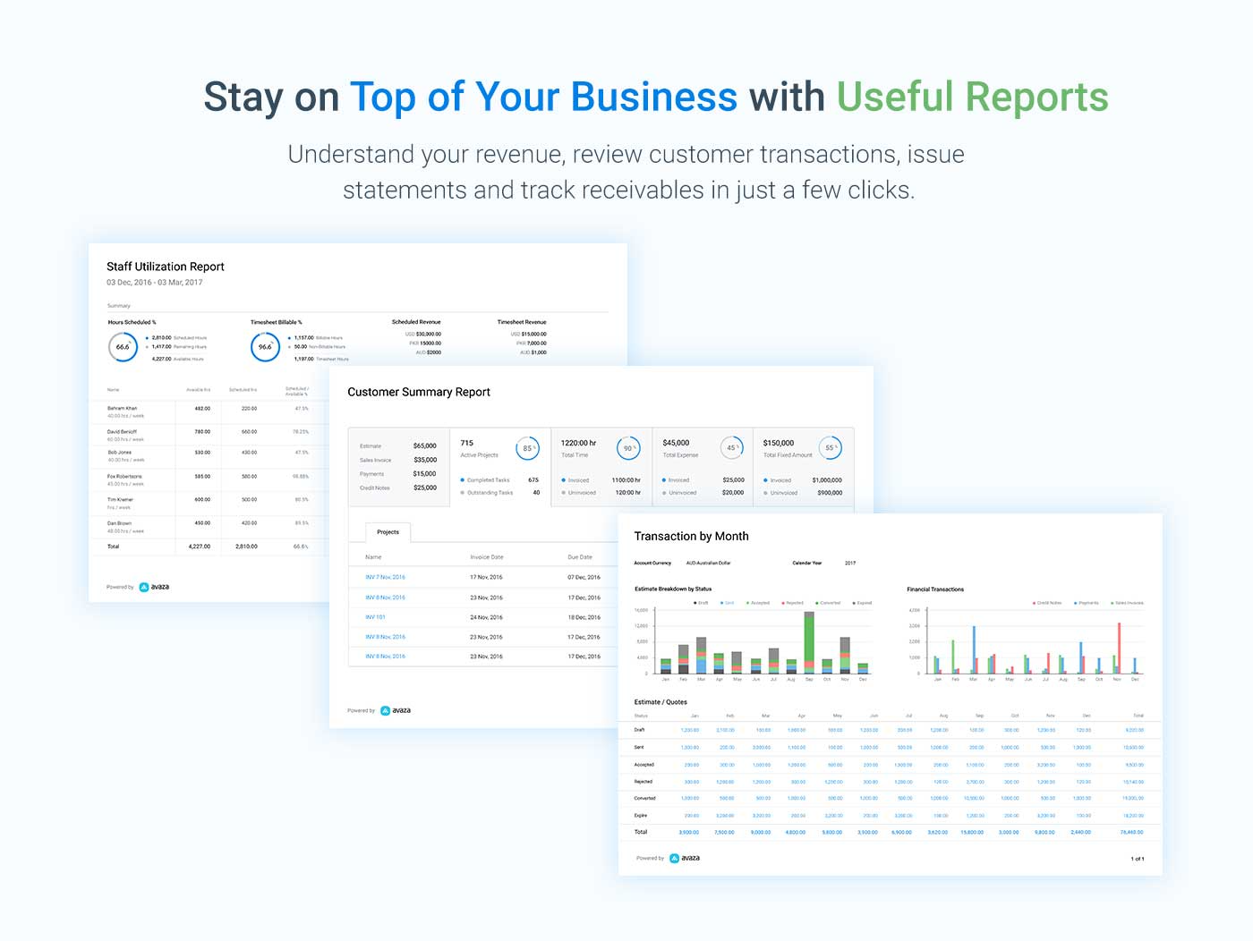 Stay on top of project reporting!