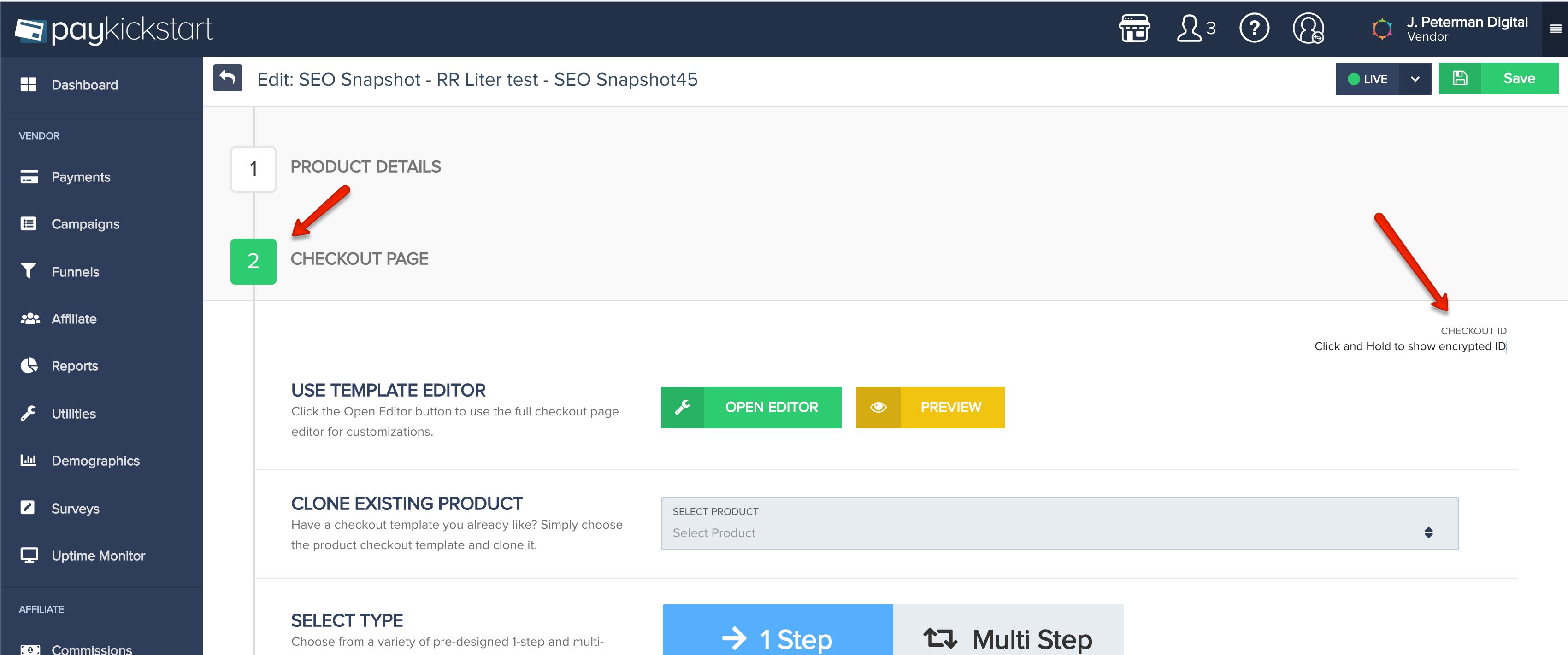 PayKickstart checkout page