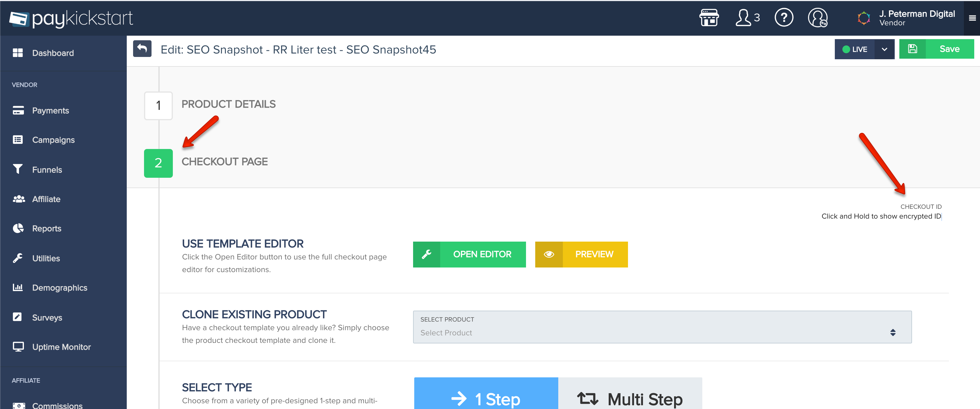 PayKickstart Software - PayKickstart checkout page