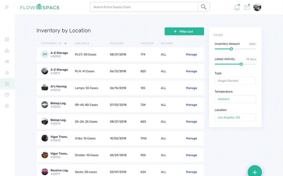 Flowspace WMS inventory management