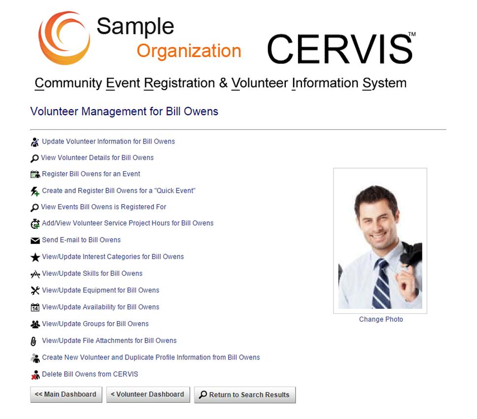 CERVIS Software - Volunteer management