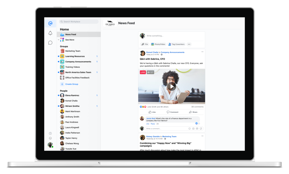 Workplace by Facebook Software - 2