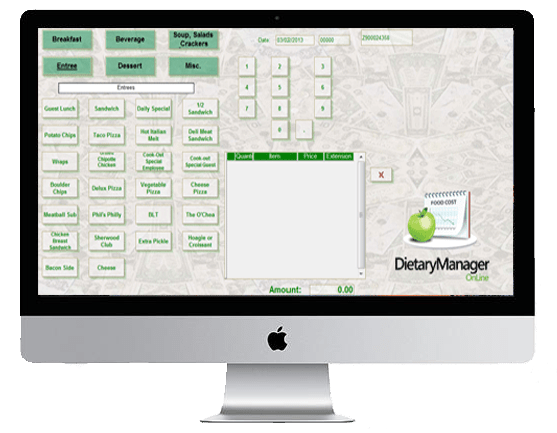Dietary Manager main interface