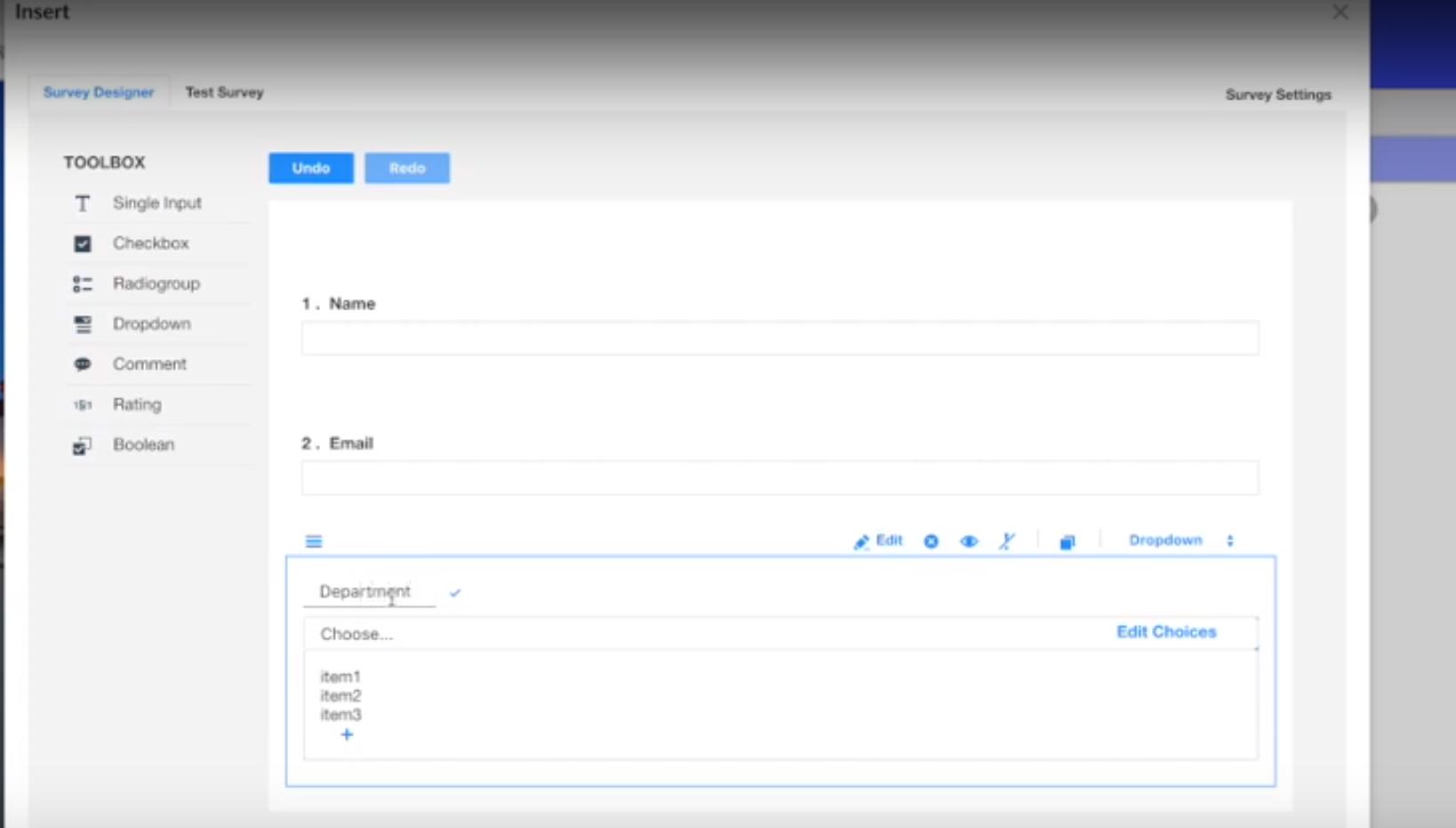 Newired Software - Newired survey designer screenshot