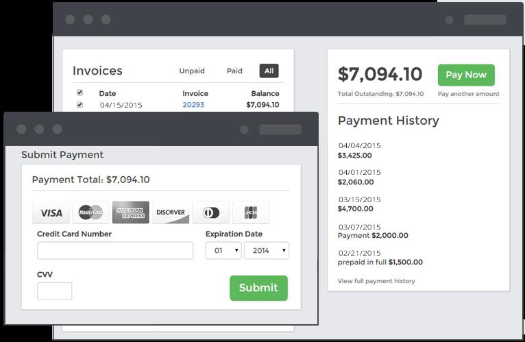 Bill4Time screenshot: Client-Portal