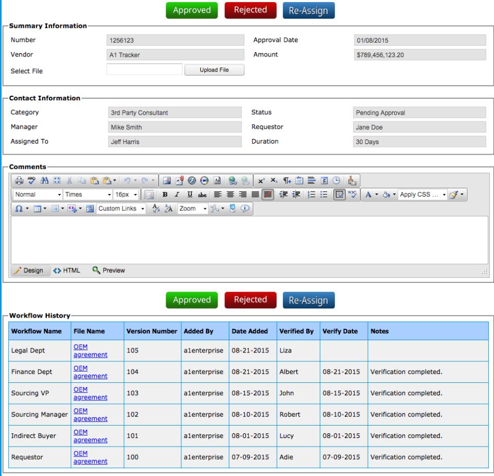 Contract Workflow Porta