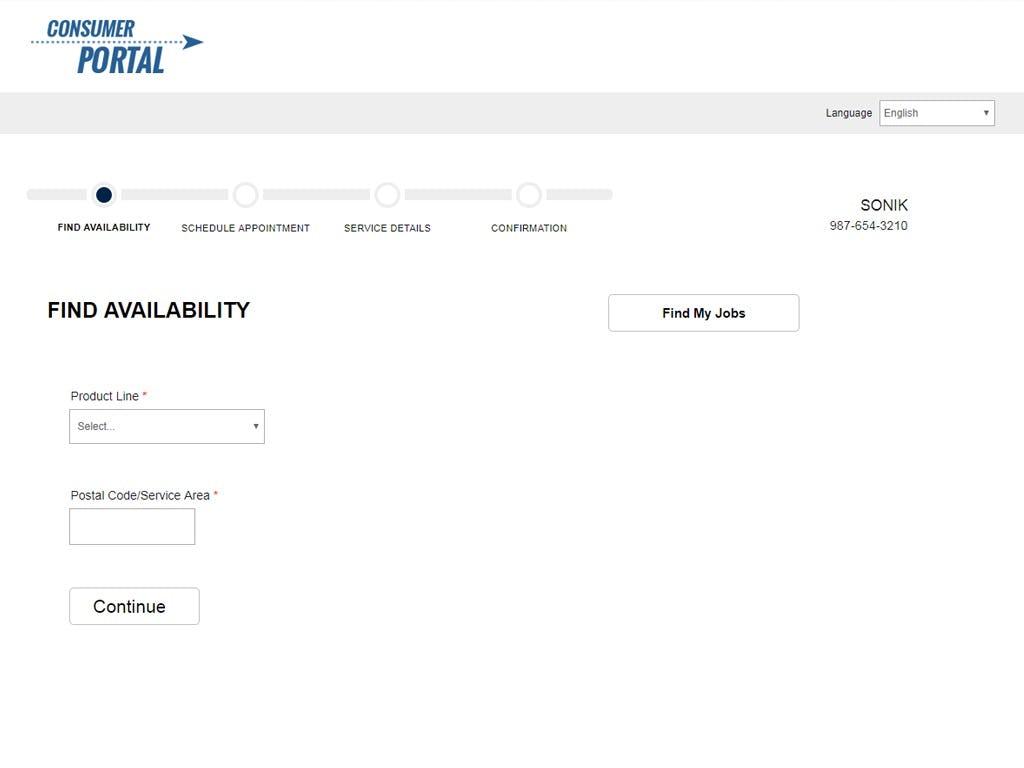 ServiceBench Software - Consumer portal