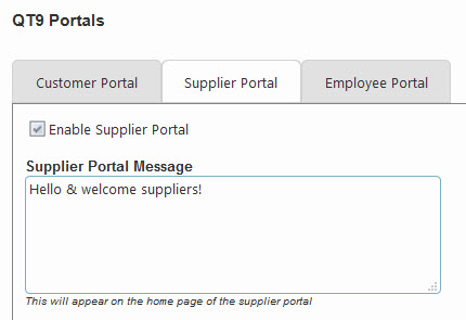 Customer, Suppler and Employee Portals Included.
