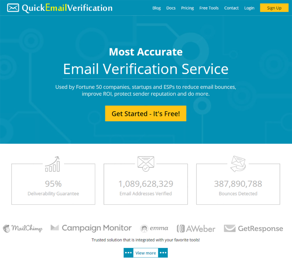 QuickEmailVerification Logiciel - 1