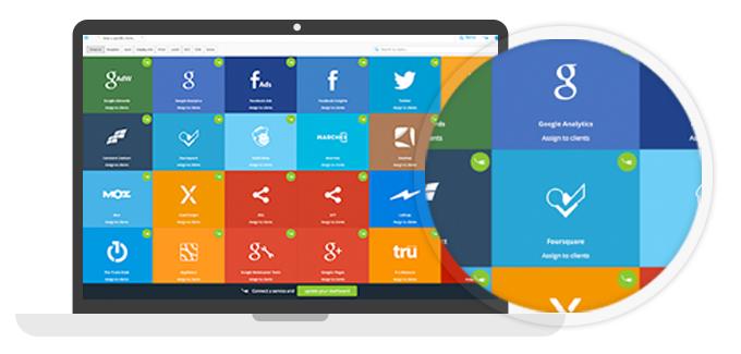 TapClicks screenshot: Connect to any service with TapAnalytics