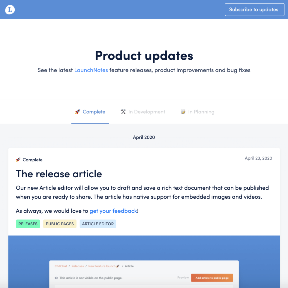 LaunchNotes Software - 1