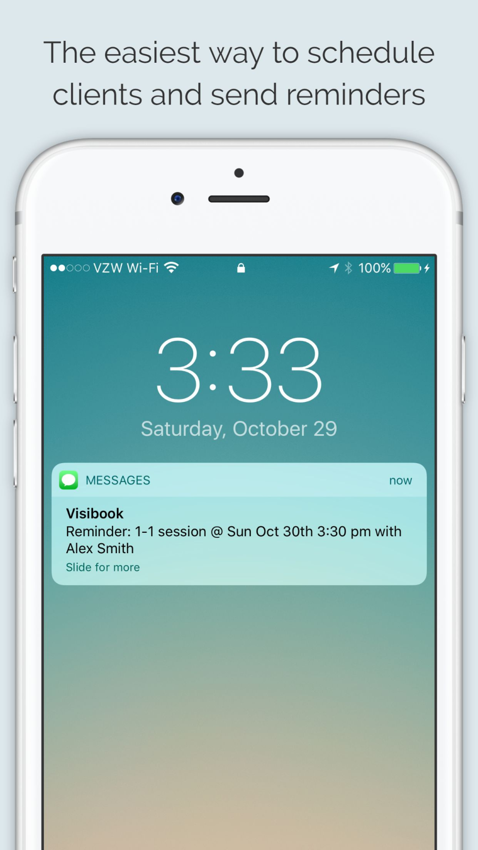 Schedule clients and send SMS text reminders