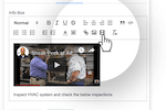 Captura de pantalla de Weever Process: Add videos, text and images to ensure staff complete tasks correctly the first time and every time after that.
