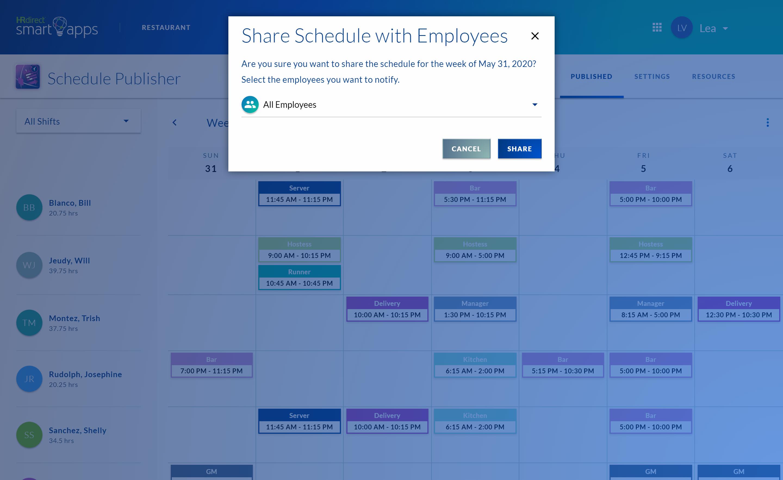 Schedule Publisher share schedules