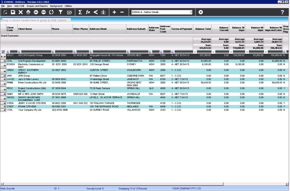 LEVESYS Software - Client details