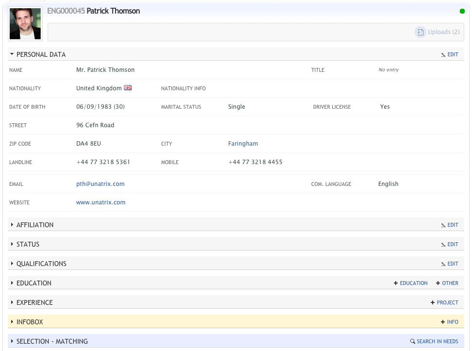 Unatrix Software - Applicant tracking system