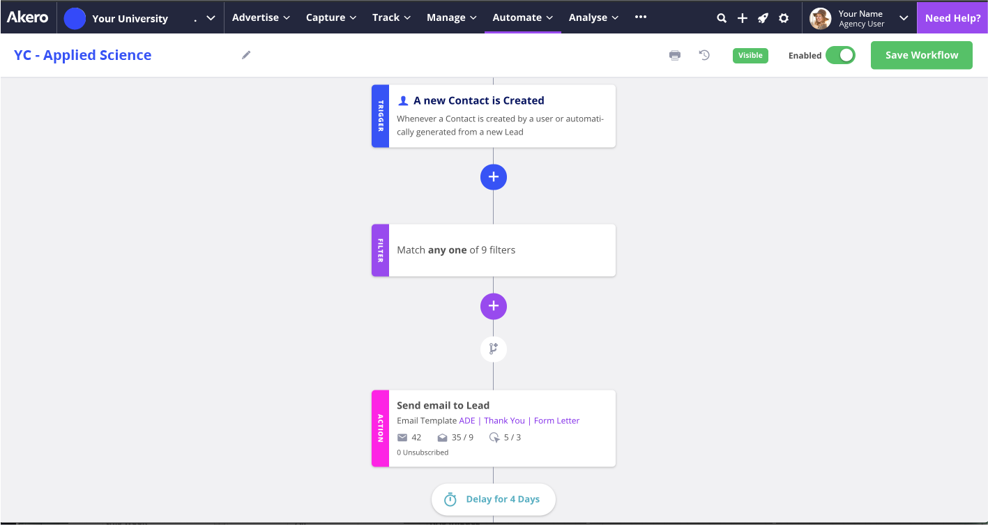 Akero Software - Workflow