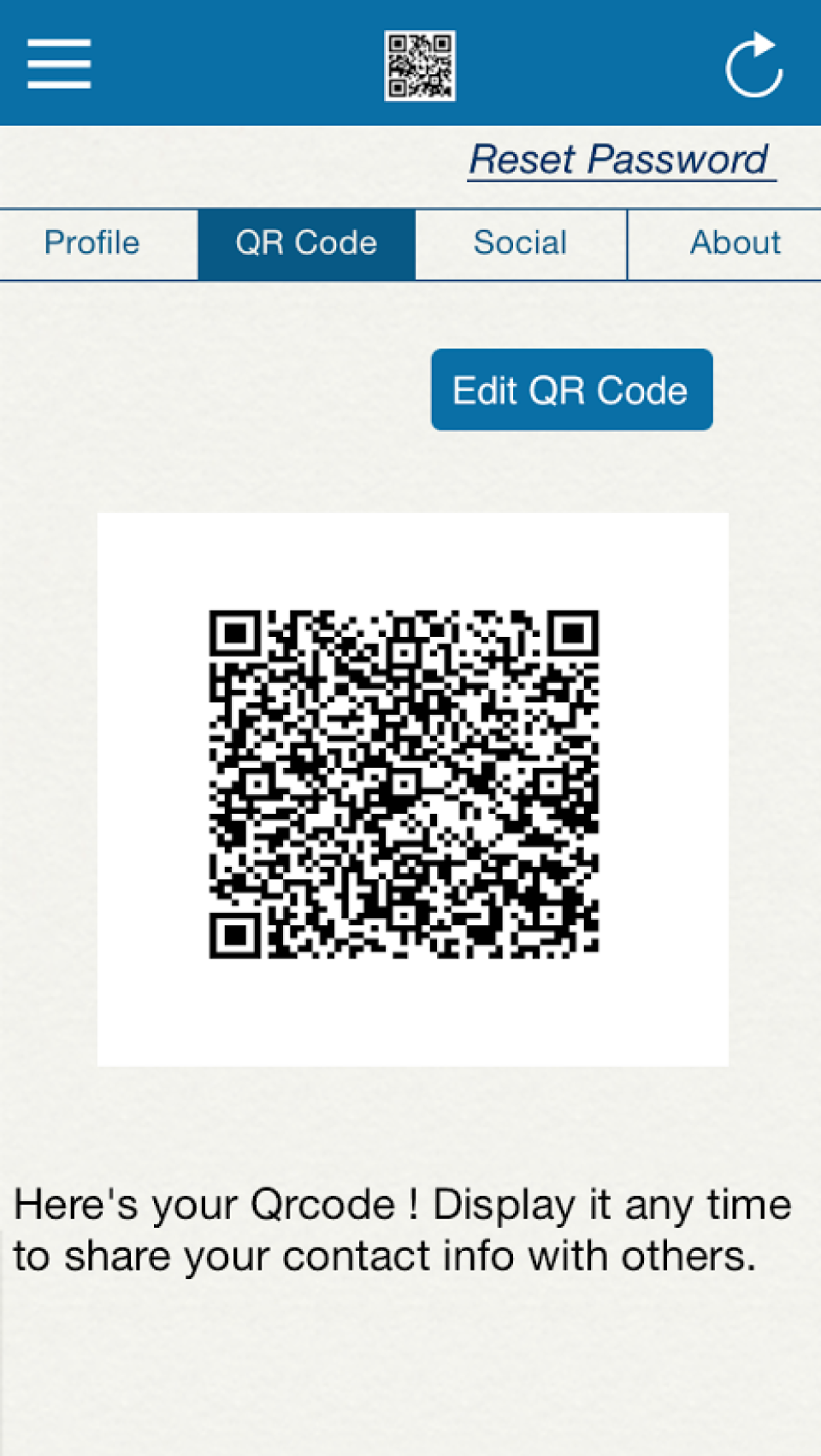 Access QR codes at the touch of a button
