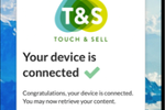 Capture d'écran pour Touch & Sell : Touch & Sell device connection