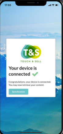 Touch & Sell device connection